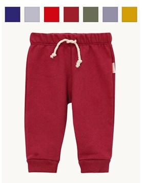 Pantalon Friza con Puño Bebe. Liso Colores surtidos. Naranjo
