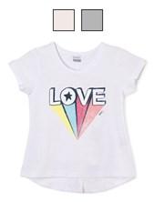 """Remera jr nena c/estampa """"love"""". Colores surtidos. Gepetto"""