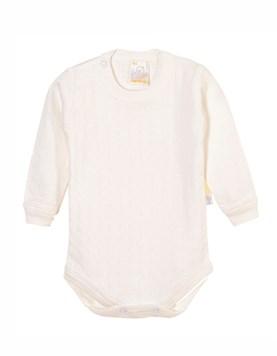 Body bebes M/L. Liso Blanco. Naranjo.