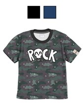 REMERA M/C BEBE ROCK CAMUFLADA. COLORES SURTIDOS. GEPETTO