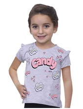 REMERA M/C ESTAMP C/VOLAD CANDY. COMPACTO