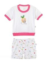 Pijama combinado remera M/C estampa Anana. Estampas y colores surtidos. Naranjo.