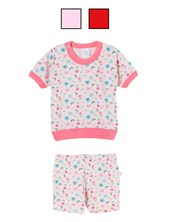Pijama beba M/C estampado. Colores surtidos. Naranjo.