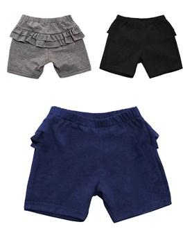 Short calza con volados de algodon. Colores surtidos. Pilim