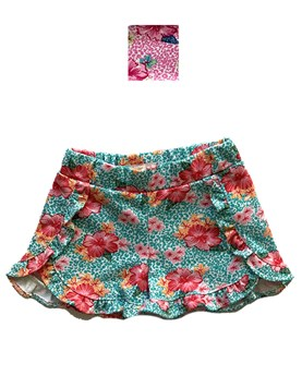 SHORT BEBA RUST. C/VOL. COLORES SURTIDOS. PONINOS