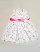Vestido c/rosa en cintura con botones en espalda. 6 colores surtidos