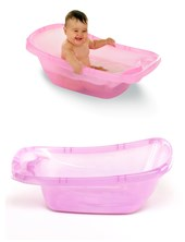 Bañera plástica rosa traslucido. Ok Baby