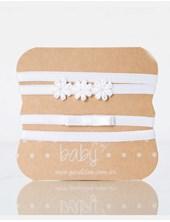 PACK X 3U: Vinchas cintas bebe blanca-Natural-Rosa. Gorditoo