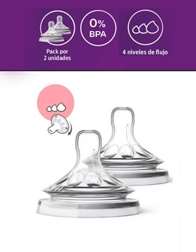 Tetina Natural Avent. Flujo Variable . Blister x 2 Unidades. Philips Avent