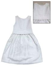 Vestido beba voile blanco bordado. Creaciones Nora