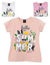 "Remera nena M/C ""Hello Summer"". Colores surtidos. Wild Cherry"