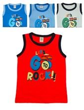 Musculosa jersey combinada niño. Colores surtidos. Narocca