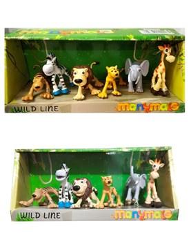 Set animales de la selva en caja. Faydi