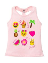 Musculosa beba ¨Time for holiday¨. Wild Cherry