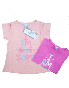 Remera M/C estampada nena. Colores surtidos. Gepetto.