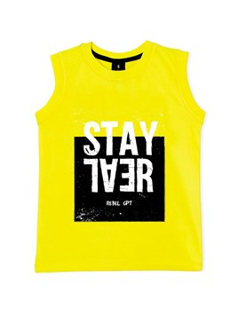 Musculosa nene 'Stay Real'. Gepetto