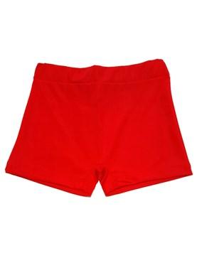 Short Tricot rojo con frente sublimado y proteccion FPS 50+. Disney