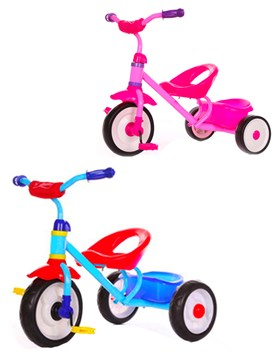 Triciclo Basico C/canasto. Colores surtidos. Priori