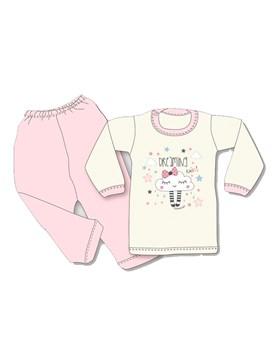 Pijama M/L estampado beba. Colores surtidos. Gamise