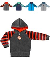 CAMPERA PLUSH M/RAYADA. COLORES SURTIDOS. YABY
