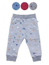 Pantalon frisa bebe estampado con bolsillos. Colores surtidos. Baby skin.
