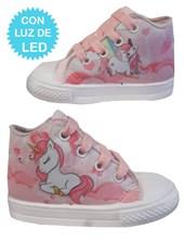 Zapatillas de bebe con luces led Unicornio. Disney
