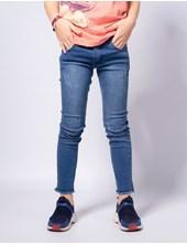 Jean niño elastizado azul con arañazos tel aviv Popeye