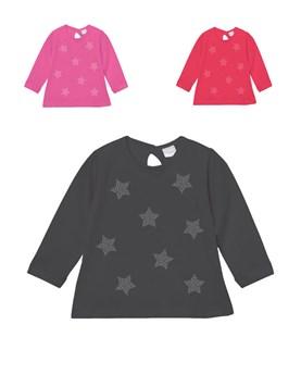 Remera beba M/L c/estampa full 'estrellas'. Colores surtidos. Gepetto