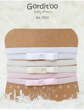 PACK X 3U: Vinchas cintas bebe blanca-Natural-Rosa. Gordito