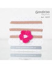 Vincha c/flor bord Gorditoo