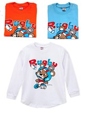 REMERA M/L RUGBY BEBE. COLORES SURTIDOS. WILD CHERRY