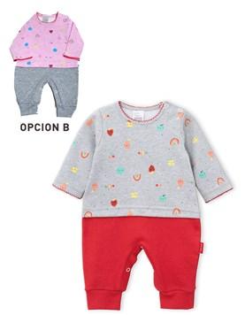 Enterito arcoiris M/L combinado nena. Colores surtidos. Premium