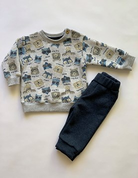 Conjunto Beba animal Buzo y Pantalon Friza. Poninos