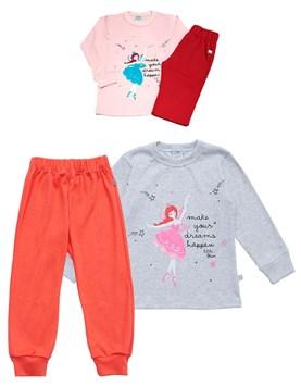 Pijama nena M/L con estampa hada. Colores surtidos. Baby Skin.