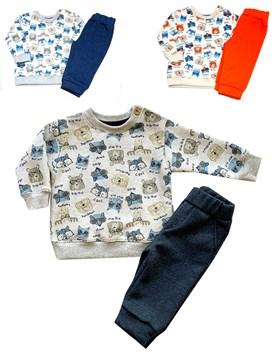 Conjunto Beba animal Buzo y Pantalon Friza. Colores surtidos. Poninos