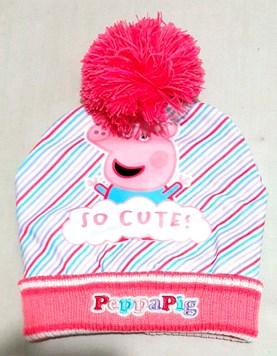 Gorro de lana Pepa Pig con Pompon. Disney