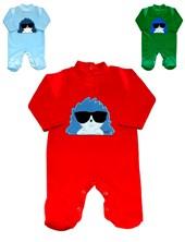 Enterito plush con bordado bebe. Colores surtidos.