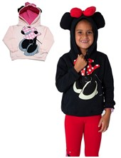 Buzo c/capucha Minnie. Colores surtidos. Disney