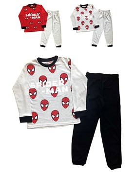 Pijama manga larga jersey estampado Spiderman. Colores surtidos. Disney