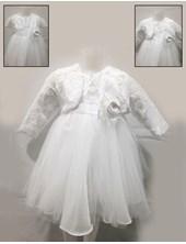 Vestido sin mangas pecho y casaca de encaje. Children Dior