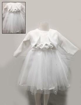Vestido con faja strass c/bouque. Children Dior