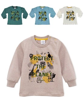 REMERA M/L BEBE ANIMALES. COLORES SURTIDOS. RUABEL