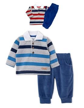 Conjunto Bebe Chomba y Pantalon. Colores surtidos. Premium