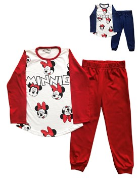 Pijama M/L nena Minnie. Colores surtidos. Disney