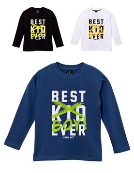 REMERA ML NENE EST.BEST KID EVER GEPETTO
