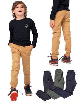 Pantalon Jogger gabardina color Niño Popeye