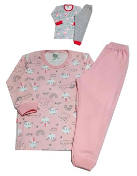 Pijama Manga larga Nena Estampado Gatita Big Bay
