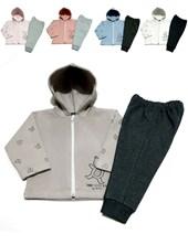 Conjunto unisex friza campera con capucha combinada. Dreams