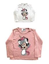 Remera M/L nena Minnie unicornio. Disney