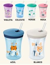 Vaso evolution ACTION CUP c/sorbete flexible. Colores surtidos.  Nuk